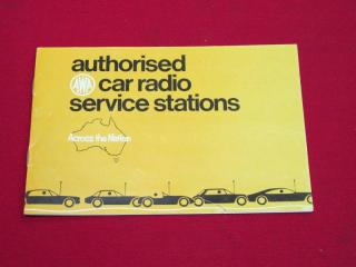 AWA RADIO BOOKLET
